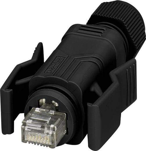 Sensor-/Aktor-Datensteckverbinder Stecker, gerade Polzahl (RJ): 8 Phoenix Contact 1658493 VS-08-RJ45-5-Q/IP67-BK 1 St.