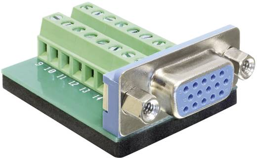 VGA-Steckverbinder Buchse, Einbau vertikal Polzahl: 16 Silber Delock 65170 1 St.
