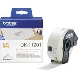 Image of Brother DK-11201 Etiketten Rolle 90 x 29 mm Papier Weiß 400 St. Permanent DK11201 Adress-Etiketten