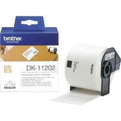 Image of Brother DK-11202 Etiketten Rolle 100 x 62 mm Papier Weiß 300 St. Permanent DK11202 Versand-Etiketten
