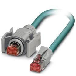 Sieťový prepojovací kábel RJ45 Phoenix Contact 1407932, CAT 6A, S/FTP, 5.00 m, modrá