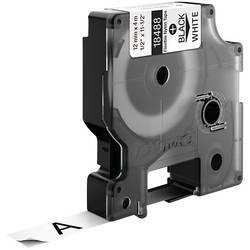 Páska do štítkovače DYMO 18758 (S0718100), 12 mm, IND RHINO, 3,5 m, černá/bílá