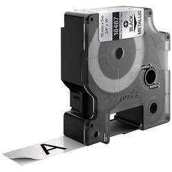 Páska do štítkovače DYMO 18762 (S0718200), 19 mm, IND RHINO, 5,5 m, černá/kov