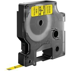 Páska do štítkovače DYMO 43618 (S0720790), 6 mm, D1, 7 m, černá/žlutá