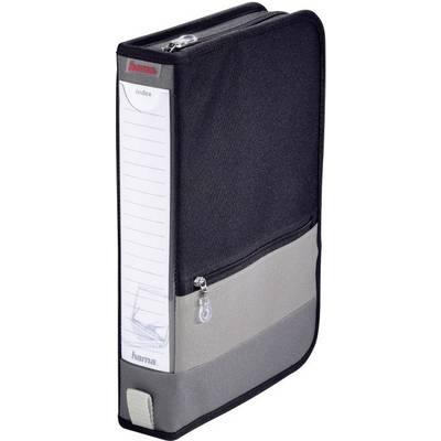 Hama CD Tasche 64 CDs/DVDs,Blu-rays Polyester Grau, Schwarz 1 St. (B x H x  T) 63 x 295 x 200 mm 84146