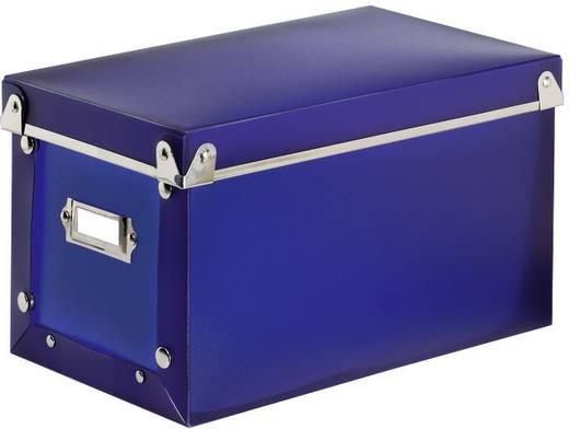 hama cd box 140 cds dvds blu rays kunststoff blau 1 st b x h x t 141 x 145 x 263 mm 78378 kaufen. Black Bedroom Furniture Sets. Home Design Ideas