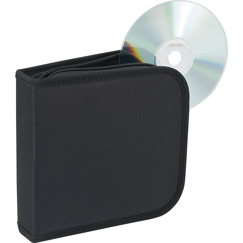 CD-hoes van nylon voor 28 CD´s, zwart