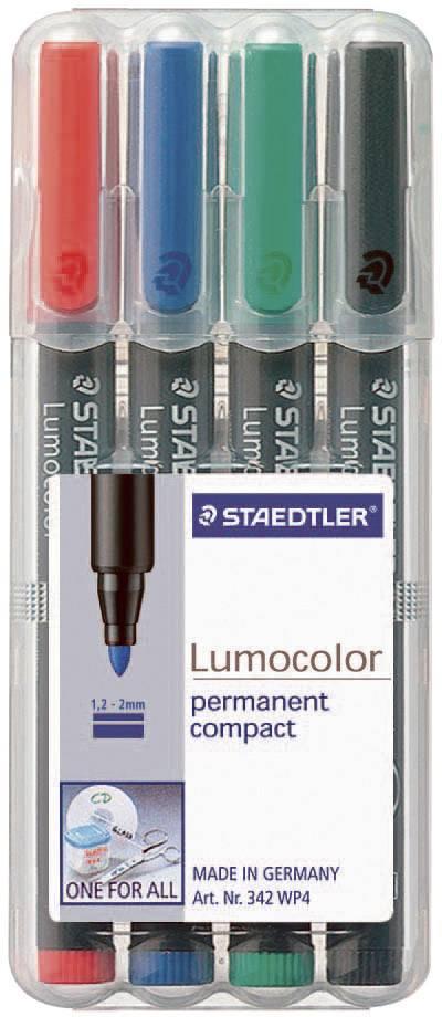 permanent Staedtler Lumocolor 318-9WP4HZ Folienstift 4 Stück in