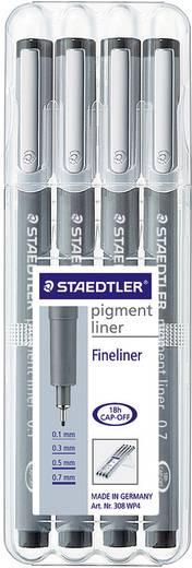 Staedtler pigment liner schwarz 4er Set