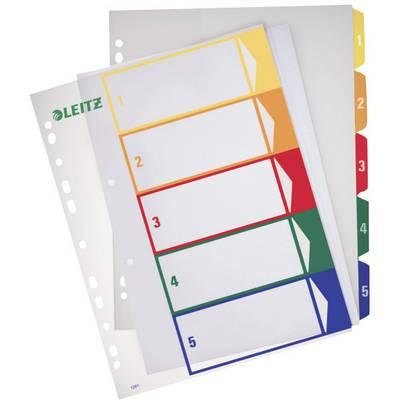 Leitz Register 12910000 DIN A4, Überbreite 1-5 Polypropylen Mehrfarbig 5 Registerblätter P Preisvergleich