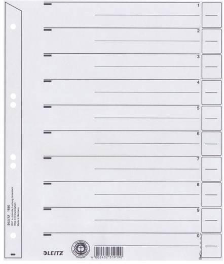 Trennblätter Leitz 16500285 DIN A4 Überbreite numerisch 1 Blatt Grau 1 St.