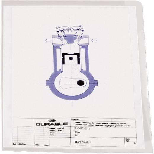 Durable Sichthülle 2337-19 genarbt, DIN A4, Polypropylen, mit Griffausstanzung, 100 St.
