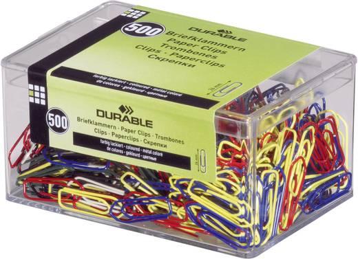 Durable Farbige Briefklammern farbig lackiert 500er