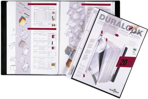Durable Sichtbuch 2432-01 DIN A4 Anzahl der Hüllen:20 Schwarz 1 St.