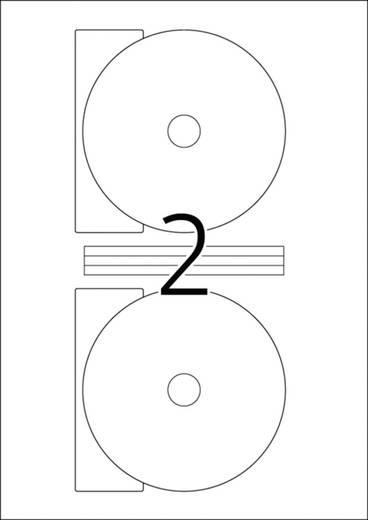 CD-Etiketten Herma Etiquettes CD 50 pièces 5115 Tinte, Laser Etiketten-Ø 116 mm 50 St. Weiß