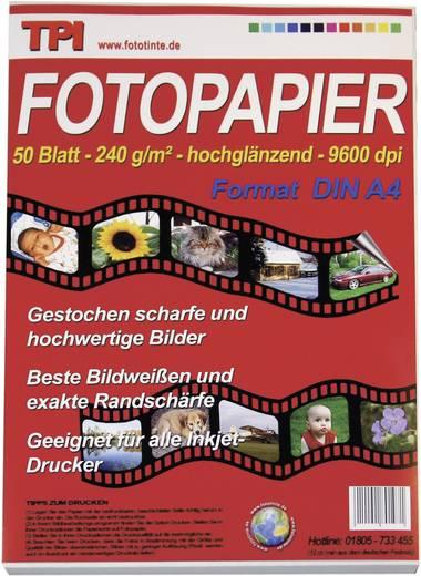 Fotopapier TPI 110022 110022 DIN A4 240 g/m² 50 Blatt Hochglänzend