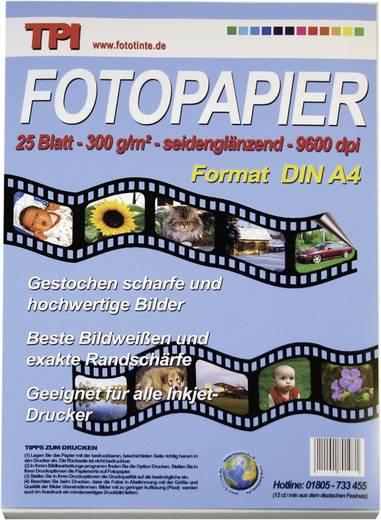 Fotopapier TPI 110053 110053 DIN A4 300 g/m² 25 Blatt Seidenglänzend