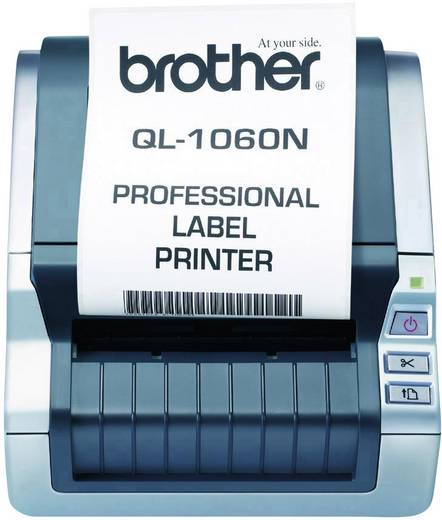 Brother QL-1060N Etiketten-Drucker Thermodirekt 300 x 300 dpi Etikettenbreite (max.): 102 mm USB, LAN