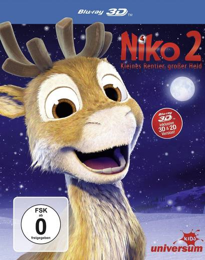blu-ray 3D Niko 2 - Kleines Rentier, großer Held (+2D Version) FSK: 0