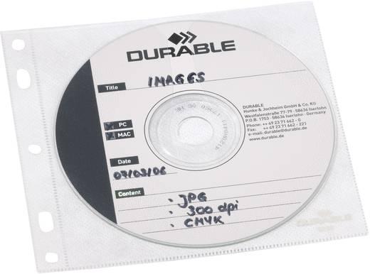 Durable CD/DVD-Hüllen für Ringbücher 10er-Set 5239-19 Transparent, Weiß 1 CD/DVD mit Booklet oder 2 CD/DVDs.