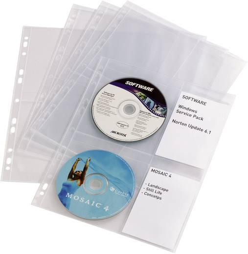 Durable CD/DVD-Hüllen mit Einschubfächern 5238-19 Transparent 4 CDs/DVDs