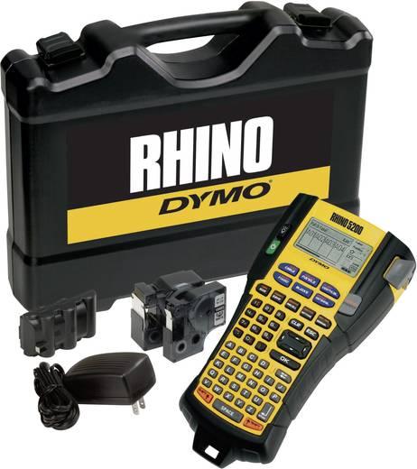 Beschriftungsgerät DYMO Rhino Pro 5200 (Kit malette, rubans, batterie et bloc d'alimentation) Geeignet für Schriftband: