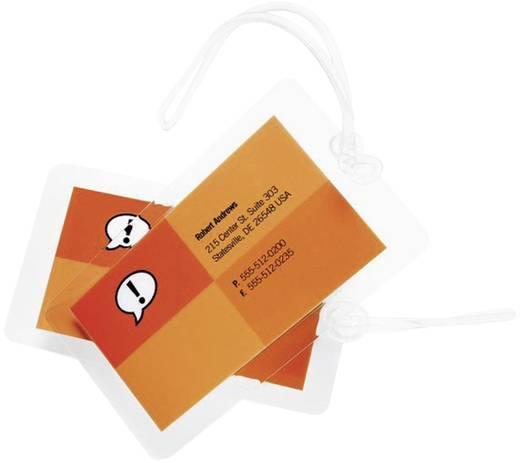 Laminierfolie DocumentPouch ibico Gepäckanhänger mit Schlitzstanzung 108 x 64 mm