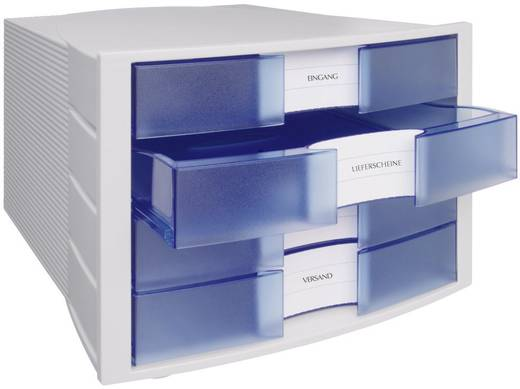 HAN Schubladenbox IMPULS Licht-Grau, Blau, Transluzent 1010-x-64