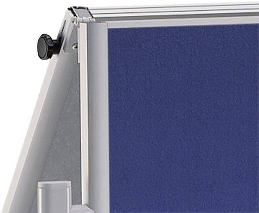 Maul Moderationstafel Pro klappbar Textilfaser, Weiß lackiert Blau, Weiß 6380782