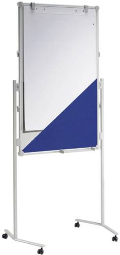 Maul Moderationstafel MAULpro (B x H) 75 cm x 120 cm Blau, Weiß Inkl. Ablageschale, Inkl. Block, Inkl. Blockhalter, Pinn