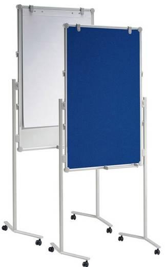 Maul Moderationstafel Pro Textil/Whiteboard Textilfaser, Weiß lackiert Blau, Weiß 6380982