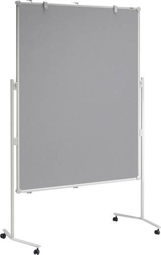 Maul Moderationstafel MAULpro (B x H) 120 cm x 150 cm Grau Inkl. Ablageschale, Inkl. Blockhalter, Inkl. Rollen, beidseit