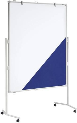 Maul Moderationstafel (B x H) 120 cm x 150 cm Weiß, Blau Inkl. Ablageschale, Inkl. Blockhalter, Inkl. Rollen, beidseiti