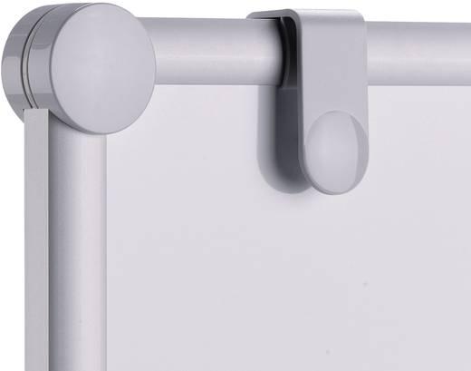 Maul Moderationstafel (B x H) 120 cm x 150 cm Grau Inkl. Ablageschale, Inkl. Blockhalter, Inkl. Rollen, beidseitig verw