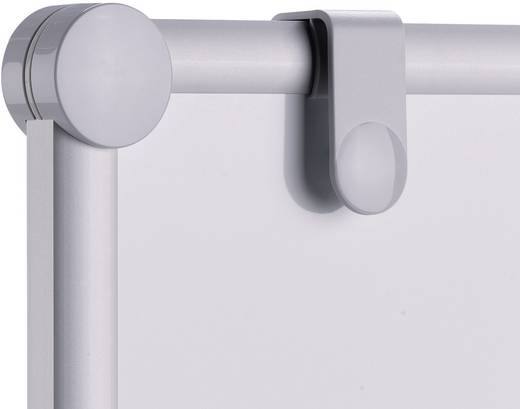 Maul Moderationstafel (B x H) 120 cm x 150 cm Weiß Inkl. Ablageschale, Inkl. Blockhalter, Inkl. Rollen, beidseitig verw