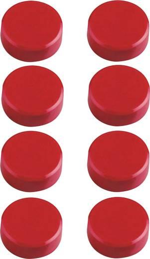 Maul Facetterand-Magnet 8 St. Rot (Ø x H) 15 mm x 7 mm 6175225