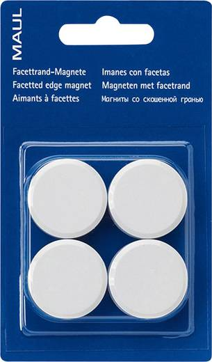 Maul Facetterand-Magnet 4 St. Weiß (Ø x H) 30 mm x 10 mm 6177202