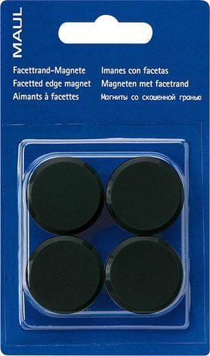 Maul Facetterand-Magnet 4 St. Schwarz (Ø x H) 30 mm x 10 mm 6177290