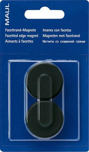 Maul Facetterand-Magnet 2 St. Schwarz (Ø x H) 34 mm x 13 mm 6178290
