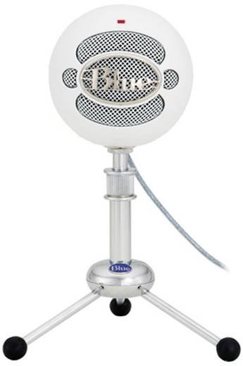 USB-Studiomikrofon Blue Microphones Snowball White USB-Mikrofon Kabelgebunden inkl. Kabel, Standfuß