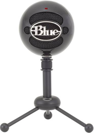 USB-Studiomikrofon Blue Microphones Snowball Gloss Black USB-Mikrofon Kabelgebunden Standfuß, inkl. Kabel