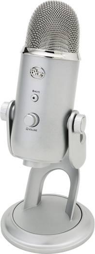 PC-Mikrofon Blue Microphones Yeti Silber Kabelgebunden Standfuß