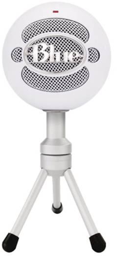 PC-Mikrofon Blue Microphones Snowball Ice Weiß Kabelgebunden inkl. Stativ, inkl. Kabel