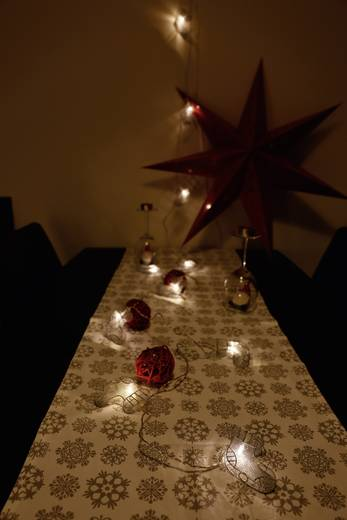 Motiv-Lichterkette Socken Innen netzbetrieben 10 LED Warm-Weiß Beleuchtete Länge: 2.7 m Polarlite 779212