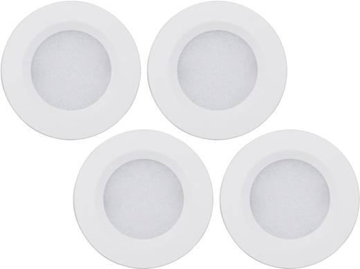 LED-Aufbauleuchte 4er Set 7 W Warm-Weiß Müller Licht 57007 Vestavné LED svítidlo, 4x 18 LED, 3000 K Silber