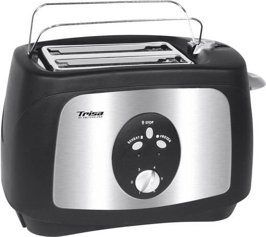 Toaster mit Brötchenaufsatz Trisa Crunchy Toast Schwarz