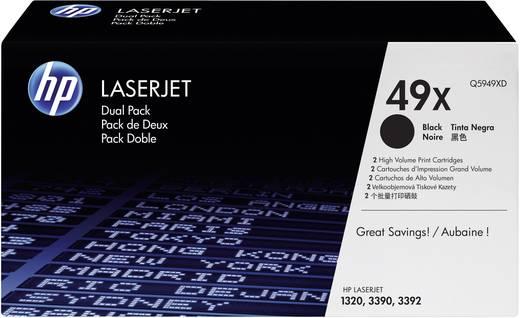HP Toner 2er-Pack 49X Q5949XD Original Schwarz 6000 Seiten