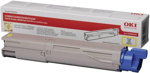 OKI Toner C3300 C3400 C3450 C3600 43459329 Original Gelb 2500 Seiten