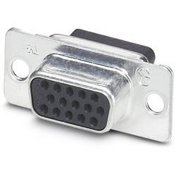 D-SUB zásuvková lišta Phoenix Contact VS-09-BU-DSUB-HD-CD-B, 180 °, Počet pinov 15, krimpované , 10 ks