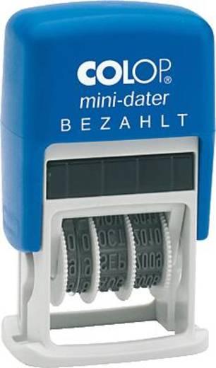Colop MiniDater S 160/L2/S160/L2 5 x 25 mm, 4 mm Kissen rot/blau Bezahlt